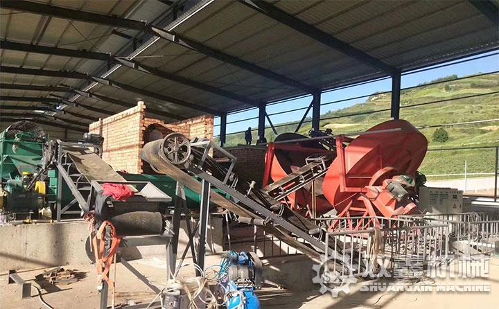 安徽有机肥生产线现场
